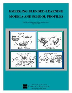 EMERGING BLENDED-LEARNING MODELS AND SCHOOL PROFILES