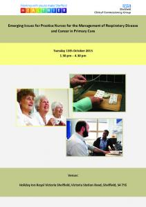 Emerging Issues for Practice Nurses for the Management of Respiratory Disease and Cancer in Primary Care