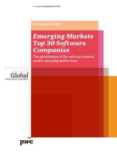 Emerging Markets Top 30 Software Companies