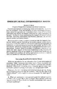 EMERGING RURAL ENVIRONMENTAL ISSUES