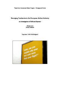Emerging Tendencies in the European Airline Industry