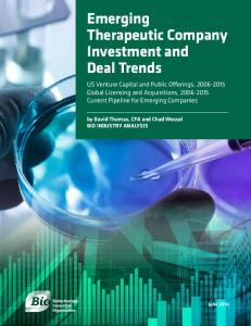 Emerging Therapeutic Company Investment and Deal Trends