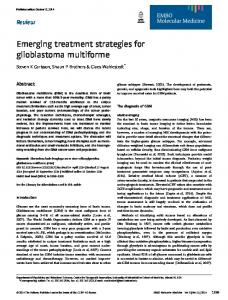 Emerging treatment strategies for glioblastoma multiforme