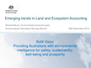 Emerging trends in Land and Ecosystem Accounting