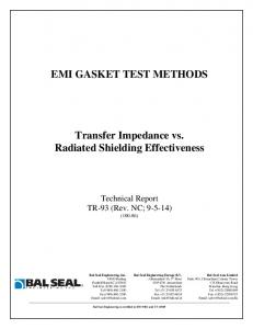 EMI GASKET TEST METHODS. Transfer Impedance vs. Radiated Shielding Effectiveness