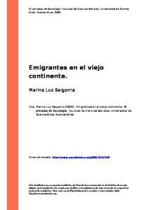 Emigrantes en el viejo continente
