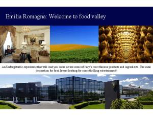 Emilia Romagna: Welcome to food valley