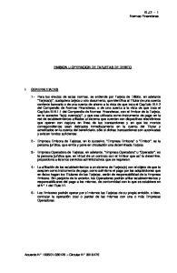 EMISION U OPERACION DE TARJETAS DE DEBITO