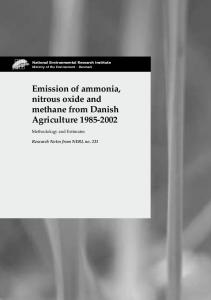 Emission of ammonia, nitrous oxide and methane from Danish Agriculture