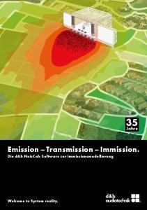 Emission Transmission Immission