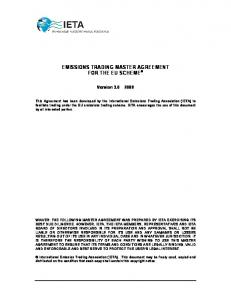 EMISSIONS TRADING MASTER AGREEMENT FOR THE EU SCHEME
