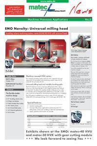 EMO Novelty: Universal milling head