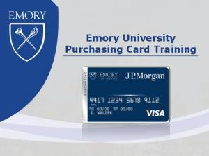 Emory University Purchasing Card Training
