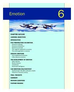 Emotion CHAPTER OUTLINE