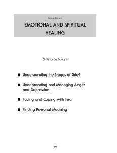 EMOTIONAL AND SPIRITUAL HEALING