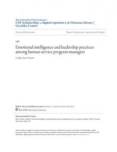 Emotional intelligence and leadership practices among human service program managers