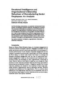 Emotional Intelligence and Organisational Citizenship Behaviour of Manufacturing Sector Employees: An Analysis