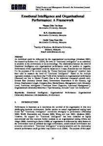 Emotional Intelligence and Organisational Performance: A Framework