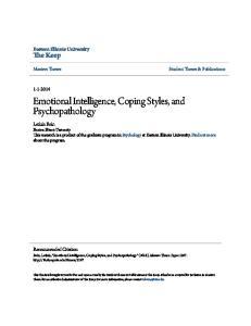 Emotional Intelligence, Coping Styles, and Psychopathology