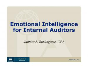 Emotional Intelligence for Internal Auditors