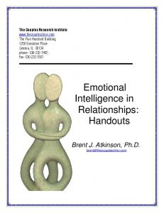 Emotional Intelligence in Relationships: Handouts