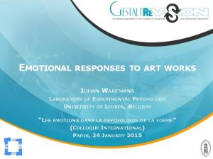 EMOTIONAL RESPONSES TO ART WORKS