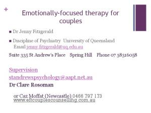 Emotionally-focused therapy for couples