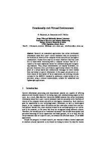Emotionally-rich Virtual Environment