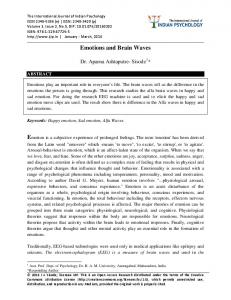 Emotions and Brain Waves