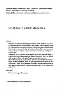 Emotions in parachute jumps