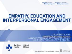 EMPATHY, EDUCATION AND INTERPERSONAL ENGAGEMENT
