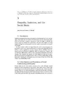 Empathy, Imitation, and the Social Brain