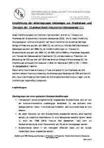 Empfehlung der Arbeitsgruppe Osteologie zur Prophylaxe und Therapie der Glukokortikoid-induzierten Osteoporose [1]