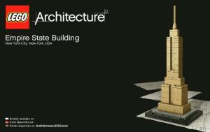 Empire State Building New York City, New York, USA. Booklet available on: Livret disponible sur: Folleto disponible en: Architecture.LEGO