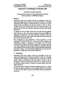 Empirical J-V modelling of CIGS solar cells