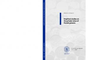 Empirical studies on the private value of Finnish patents
