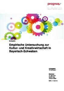 Empirische Untersuchung zur Kultur- und Kreativwirtschaft in Bayerisch-Schwaben
