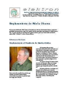 Emplazamiento de Fidel a Obama