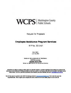 Employee Assistance Program Services