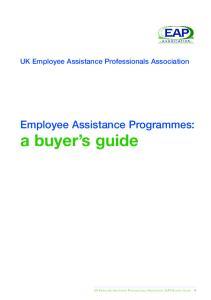 Employee Assistance Programmes: a buyer s guide