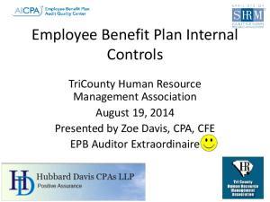 Employee Benefit Plan Internal Controls