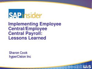 Employee Central Payroll: Lessons Learned
