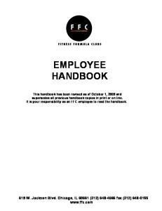 EMPLOYEE HANDBOOK. 619 W. Jackson Blvd. Chicago, IL (312) fax (312)