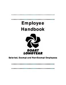 Employee Handbook. Salaried, Exempt and Non-Exempt Employees
