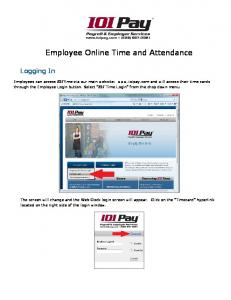 Employee Online Time and Attendance