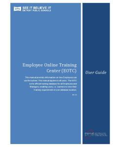 Employee Online Training Center (EOTC)