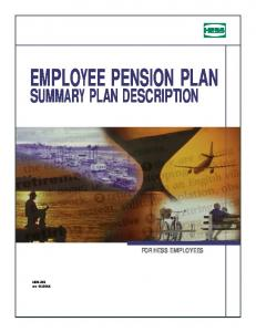 EMPLOYEE PENSION PLAN SUMMARY PLAN DESCRIPTION