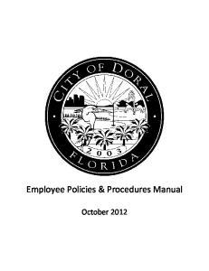 Employee Policies & Procedures Manual