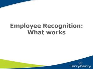 Employee Recognition: What works