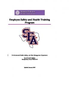 Employee Safety and Health Training Program